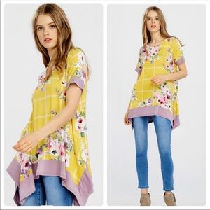 Gorgeous Canary Yellow and Floral Top